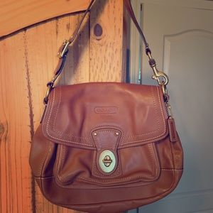 Authentic Coach Legacy turnlock shoulder bag